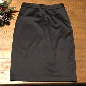 Jessica Simpson black satin pencil skirt size 4